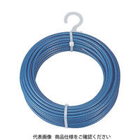 トラスコ中山(TRUSCO) メッキ付ワイヤーロープ PVC被覆タイプ Φ4(6)mmX10m CWP-4S10 1本 213-4934 (直送品)