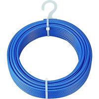 トラスコ中山(TRUSCO) メッキ付ワイヤーロープ PVC被覆タイプ Φ4(6)mmX20m CWP-4S20 1本 213-4942 (直送品)
