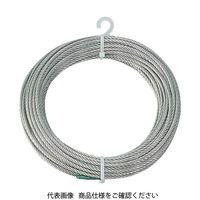 トラスコ中山(TRUSCO) ステンレスワイヤロープ Φ6.0mmX10m CWS-6S10 1本 213-4861 (直送品)