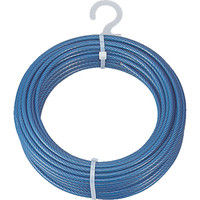 トラスコ中山(TRUSCO) メッキ付ワイヤーロープ PVC被覆タイプ Φ3(5)mmX20m CWP-3S20 1本 213-4918 (直送品)