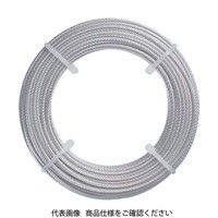 トラスコ中山(TRUSCO) ステンレスワイヤロープ Φ1.0mmX5m CWS-1S5 1本 213-4501 (直送品)