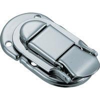トラスコ中山 TRUSCO パッチン錠 横ズレ防止タイプ・スチール製 P49 1セット(4個:4個入×1パック) 232ー9204 (直送品)
