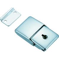 トラスコ中山(TRUSCO) パッチン錠 鍵付タイプ・スチール製 (4個入) L-25 1パック(4個) 232-8402 (直送品)