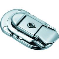 トラスコ中山(TRUSCO) パッチン錠 鍵付タイプ・スチール製 (4個入) L-35 1パック(4個) 232-9107 (直送品)