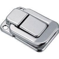 トラスコ中山 TRUSCO パッチン錠 横ズレ防止タイプ・スチール製 P45 1セット(4個:4個入×1パック) 232ー9093 (直送品)