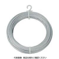 トラスコ中山(TRUSCO) メッキ付ワイヤーロープ Φ4mmX10m CWM-4S10 1本 213-4624 (直送品)