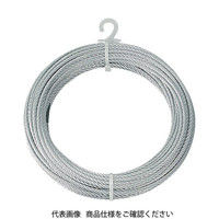 トラスコ中山 TRUSCO メッキ付ワイヤーロープ Φ6mmX10m CWM6S10 1巻 213ー4659 (直送品)