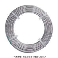 トラスコ中山(TRUSCO) ステンレスワイヤロープ ナイロン被覆 Φ1.0(1.5)X5m CWC-1S5 1本 213-4713 (直送品)