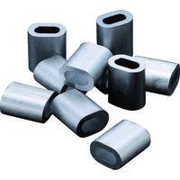 トラスコ中山(TRUSCO) アルミスリーブ 適合ワイヤ径4.0mm 10個入 AS-4 1パック(10個) 222-2302 (直送品)