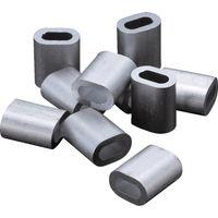 トラスコ中山(TRUSCO) アルミスリーブ 適合ワイヤ径5.0mm 10個入 AS-5 1パック(10個) 222-2311 (直送品)