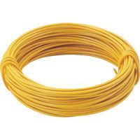 トラスコ中山(TRUSCO) カラー針金 小巻タイプ・18番手 黄 線径1.2mm TCWS-12Y 1巻 282-5287 (直送品)