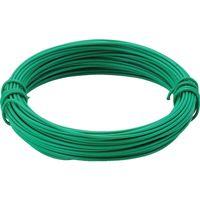 トラスコ中山(TRUSCO) カラー針金 ビニール被覆タイプ グリーン 線径0.9mm TCW-09GN 1巻 282-5171 (直送品)