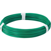 トラスコ中山(TRUSCO) カラー針金 ビニール被覆タイプ グリーン 線径2.6mm TCW-26GN 1巻 282-5139 (直送品)