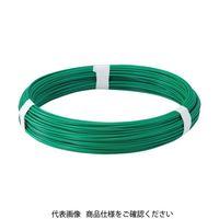トラスコ中山(TRUSCO) カラー針金 ビニール被覆タイプ グリーン 線径4.0mm TCW-40GN 1巻 282-5112 (直送品)