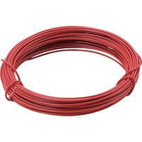 トラスコ中山 TRUSCO カラー針金 小巻タイプ・20番手 赤 線径0.9mm TCWS09R 1巻 282ー5279 (直送品)