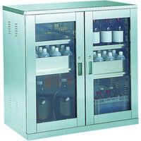 トラスコ中山 TRUSCO 耐震薬品庫 ガラス両開型 棚スライド式 900X500XH900 SW 1台 505ー5580 (直送品)