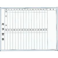 トラスコ中山 TRUSCO スチール製ホワイトボード 月予定表・縦 600X900 GL222 1枚 502ー6695 (直送品)