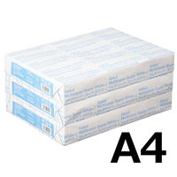 コピー用紙 マルチペーパー スーパーホワイトJ A4 1セット(1500枚:500枚入×3冊) 高白色 国内生産品 アスクル
