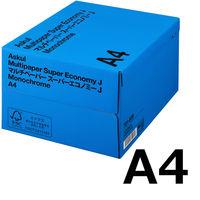コピー用紙 マルチペーパー スーパーエコノミーJ A4 1箱(5000枚:500枚入×10冊) 国内生産品 アスクル