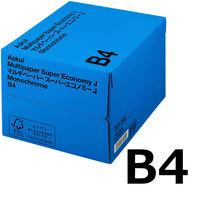 コピー用紙 マルチペーパー スーパーエコノミーJ B4 1箱(2500枚:500枚入×5冊) 国内生産品 アスクル