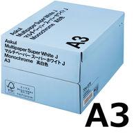 コピー用紙 マルチペーパー スーパーホワイトJ A3 1箱(2500枚:500枚入×5冊) 高白色 国内生産品 アスクル