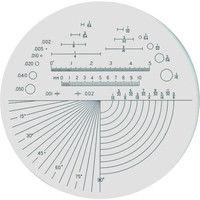 京葉光器 リーフ ガラススケール S-205 1個 219-6158 (直送品)