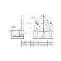 ダイキン工業 ダイキン ピストンポンプ用フート V8M10 1個 364ー9881 (直送品)