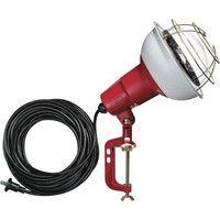 ハタヤリミテッド ハタヤ 防雨型作業灯 リフレクターランプ500W 100V電線10m バイス付 RC510 1台 370ー4122 (直送品)
