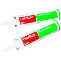 スリーボンド(ThreeBond) シリコーンシーラント TB5211A 330ml 白色 TB5211A 1本 126-3293 (直送品)