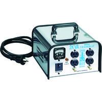 ハタヤリミテッド ハタヤ ミニトランスル 降圧型 単相200V→100・115V 2.0KVA LV02CS 1台 370ー3681 (直送品)