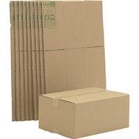 アイリスオーヤマ(IRIS OHYAMA) ダンボールボックス 550×400×246 10個セット DB-M5X10 321-6144 (直送品)