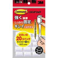 ジャパン(3M) コマンドフックお買い得パック コード用Sサイズ フック20個・タブ20枚 CM3C-20HN 276-7988