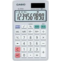 カシオ計算機 カシオ 手帳タイプ電卓10桁表示 SL310AN 1台 334ー9683 (直送品)