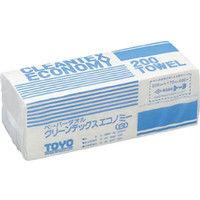 トーヨ トーヨ クリーンテックスエコノミー白 242030 1セット(1箱:8000枚入×1) 332ー5300 (直送品)
