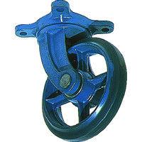 京町産業車輌 京町 鋳物製自在金具付ゴム車輪250MM AJ250 1個 107ー4971 (直送品)