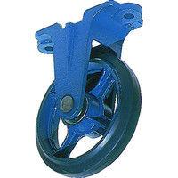 京町産業車輌 鋳物製金具付ゴム車輪100MM AU-100 1個 107-5071 (直送品)