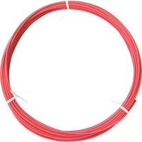 フジクラ・ダイヤケーブル フジクラ 機器配線用600V電線 エコタイプ 赤 EMKIE1.25SQR10M 1本 332ー7621 (直送品)