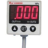 妙徳 CONVUM デジタル圧力センサ 正圧 出力2点アナログ出力付 MPSP33RCNGAT 1個 354ー7272 (直送品)