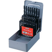 イシハシ精工 IS ストレートドリル 19本組セット D19S 1セット(19本:19本入×1セット) 302ー2587 (直送品)