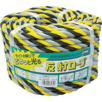 ユタカメイク ユタカ ロープ 反射標識万能パックロープ 12φ×30m ヒョウシキ YBH1230 1巻 384ー5575 (直送品)