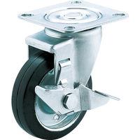 ユーエイキャスター(YUEI CASTER) 産業用キャスターS付自在車 100径ゴム車輪 SJ-100WS-P 1個 379-7040 (直送品)