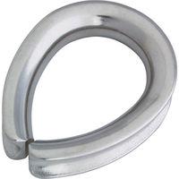 水本機械製作所 ステンレス A型シンブル 使用ロープ径8mm (1個=1袋) B-1243 1個 378-8253 (直送品)