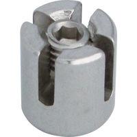 水本機械製作所 水本 ステンレス ダブルクリップ 適合ワイヤー径2mm B2142 1個 378ー9501 (直送品)