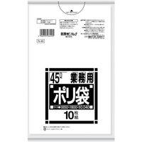日本サニパック サニパック N-4945L厚口白半透明 10枚 N-49-HCL 1袋(10枚) 375-4740(直送品)