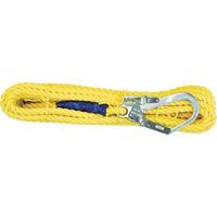 ランヤード 補助ロープ ツヨロン 昇降移動用親綱ロープ 10メートル L10TPBX 1本 388-2322 Fujii(藤井電工) (直送品)