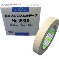 日東電工 日東 ガラスクロス粘着テープ NO.188UL 19mmX33m 188UL19 1巻 377ー6859 (直送品)