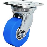 シシクSISIKUアドクライス 低床超重荷重用キャスター 100径 ユニクロメッキ MC車輪 DHJ-100U-MC 1個 353-4995 (直送品)