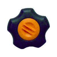 三星産業貿易 三星 フィットノブ M6 本体/黒 キャップ/橙(5個入り) FITKM6O5P 1セット(1袋:5個入×1) 363ー2971 (直送品)