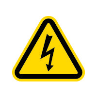 アイマーク IM 三角ラベル電気危険 25mm(一辺の長さ) AT2S 1セット(1組:10枚入×1) 391ー7959 (直送品)