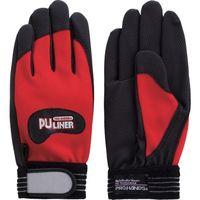 富士グローブ 合成皮革手袋 PUライナーアルファ レッド S 0770 1双 378-7087(直送品)